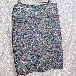 LuLaRoe Geometric Print Pencil Skirt
